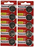 [ 10 pcs ] -- Panasonic Cr2032 3v Lithium Coin Cell Battery...