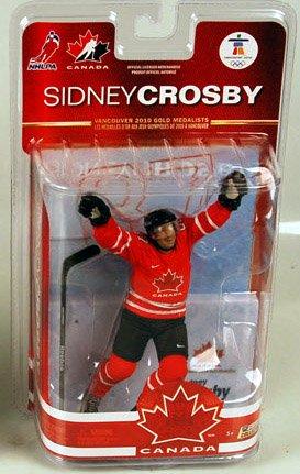 McFarlane Toys NHL Sports Picks Team Canada 2010 Series 2 Action Figure Sidney Crosby (Pittsburgh Penguins) White Jersey (Canada Crosby Team Mcfarlane)
