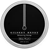 Gilbert Henry Bay Rum Shaving Soap - Natural, Vegan, Rich and Luxurious Lather for a Smooth, Comfortable Shave!