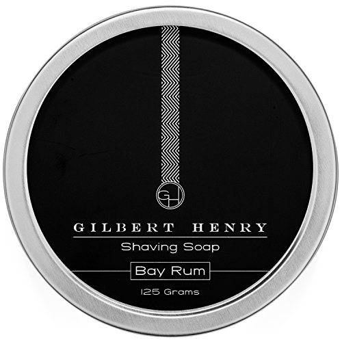 Gilbert Henry Bay Rum Shaving Soap - Natural, Vegan, Rich and Luxurious Lather for a Smooth, Comfortable Shave! by Gilbert Henry