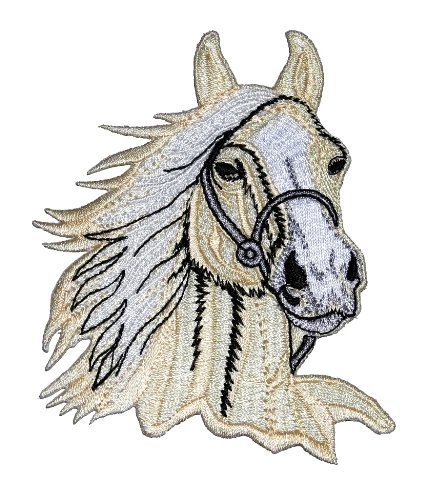 Horse Racing Horse Racehorse DIY Applique Embroidered Sew Iron on Patch HOR-008