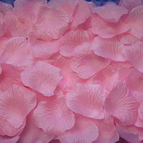 (AutoM 1000 PCS Fabric Silk Flower Rose Petals Wedding Party Decoration Table Confetti (Pink) (1, Pink))