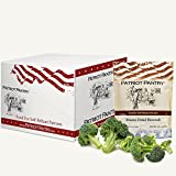 Patriot Pantry Freeze-Dried Broccoli Case Pack (48 servings, 6 pk.) Bulk Emergency Storage Food Supply, Up to 25-Year Shelf Life