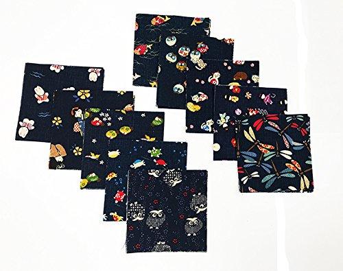 Japanese Asian Fabric - Japanese Traditional Indigo Novelty Prints - 4