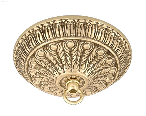 Cast Brass Canopy - B&P Lamp Cast Brass Canopy W/Polished Brass Finish, 5 1/4