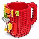 Taza Roja Build-on Diseño Bloks De Construccion Lego