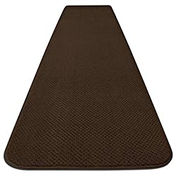 House, Home and More Skid-resistant Carpet Runner - Chocolate Brown - Many Other Sizes to Choose From