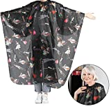 Hair Cutting Cape, Hair Cutting Apron Salon Hairstylist Barber Hairdressers Black with Red Stripes Salon Hair Cut Hairdressing Barbers Hair Cutting Cape For Adult