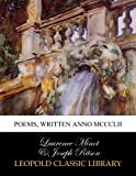 img - for Poems, written anno MCCCLII book / textbook / text book
