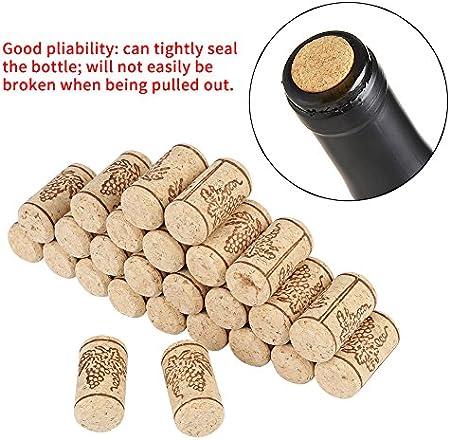 100pcs/set corchos naturales, 22 * 44 mm, corchos de madera rectos para botella de vino, tapones de vino a granel