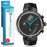 Asus ZenWatch 3 Screen Protector [6-Pack], ILLUMI AquaShield Full Coverage Screen Protector for Asus ZenWatch 3 HD Clear Anti-Bubble Film