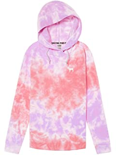 5a715ac480f44 Victoria's Secret PINK Tie Dye Crossover Tunic Hoodie New VS Pink ...