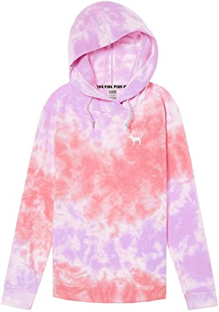 Victoria/'s Secret Pink Hoodie Campus Crossover Tunic Sweatshirt Pullover New Nwt