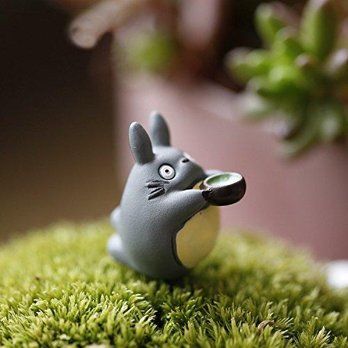 Micro Landscape Design 2 pcs Miniature Totoro Drinking Tea Figure Fairy Garden Terrarium Supplies