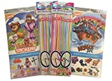 Religious Faith Based Theme Party Pack For Kids - Temporary Tattoos - Easter Stickers - Color Changing Straws for Girls and Boys