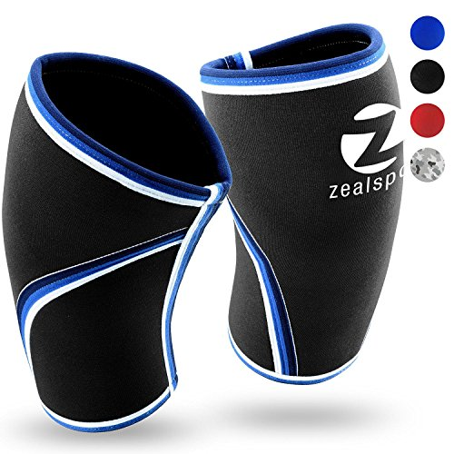 Knee Sleeves(1 Pair)Compression & Support for Weightlifting, WOD, Squats, Gym, Powerlifting & Crossfit-7mm Strong Neoprene Knee Brace-Both Women & - An Is Motocross Olympic Sport