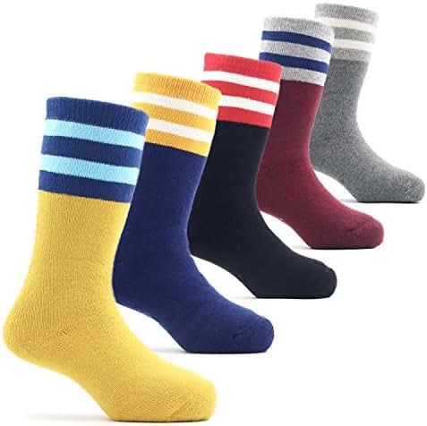 Boys Thick Cotton Socks Kids Winter Warm Thermal Crew Seamless Socks