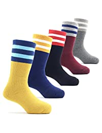 Boys Thick Cotton Socks Kids Winter Warm Crew Seamless Socks