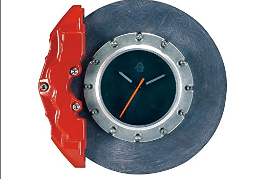 AUTOart Ceramic Brake Disc Clock - Red Caliper/Silver Centre 40543 ()