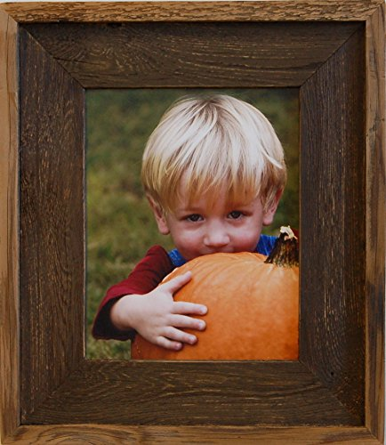 mybarnwoodframes colorwashed barn wood picture frame handcrafted in the usa 16x20 brown - My Barnwood Frames