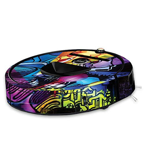 (MightySkins Skin for iRobot Roomba i7 Robot Vacuum - Midnight Mischief | Protective, Durable, and Unique Vinyl Decal wrap Cover | Easy to Apply, Remove, and Change Styles | Made in The USA)