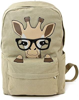 Sleepyville Critters Nerdy Baby Giraffe Canvas Backpack