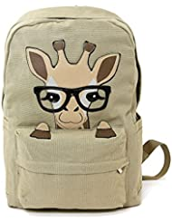 Sleepyville Critters Nerdy Baby Giraffe Canvas Backpack