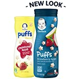 Gerber Puffs Cereal Snack, Strawberry Apple, 6