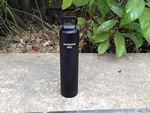 EKLOEN Black CNC Machined Aluminum EDC Survival Waterproof Capsule Seal Bottle Holder Case Container Survival EDC Emergency Tool (Best 9mm Muzzle Brake)