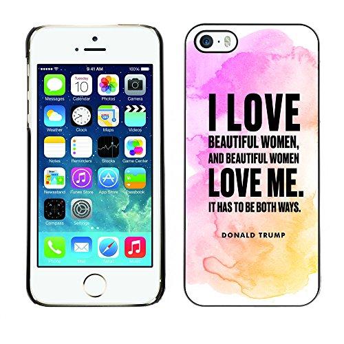 Print Motif Coque de protection Case Cover // Q04040567 Donald Trump blot rose // Apple iPhone 5 5S 5G
