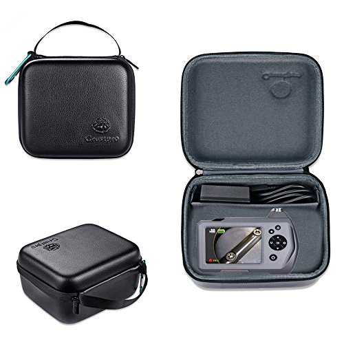 Carry Camera Case for Borescope Depstech USB, Wireless Endoscope,Teslong 3.5 Inch LCD Screen Bor for Goodan, Shekar, Pancellent, Sokos, BlueFire with pockets for accessories like USB, Side View Mirror by Varton