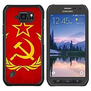 TECHCASE---Cubierta de la caja de protección para la piel dura ** Samsung Galaxy S6 Active G890A ** --Bandera de la Unión Soviética