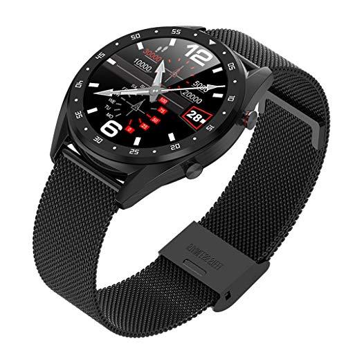 Fashion Smart Watch 2019 Sport Fitness Waterproof Multifunction1.3inch Color Screen Smart Bracelet Wristwatches Health Mate for Men Women (B)