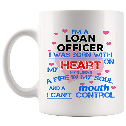 Born With Heart Loan Officer Mug Best Coffee Cup Mugs Gift Proud Best Ever Work With Love | Loans Funny World Best Mortgage Loan Originators bank Gift Mom Dad