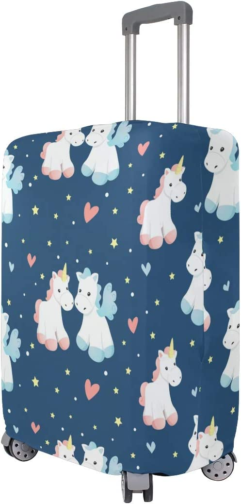 Cute 3D Lovely Unicorn Pattern Luggage Protector Travel Luggage Cover Trolley Case Protective Cover Fits 18-32 Inch