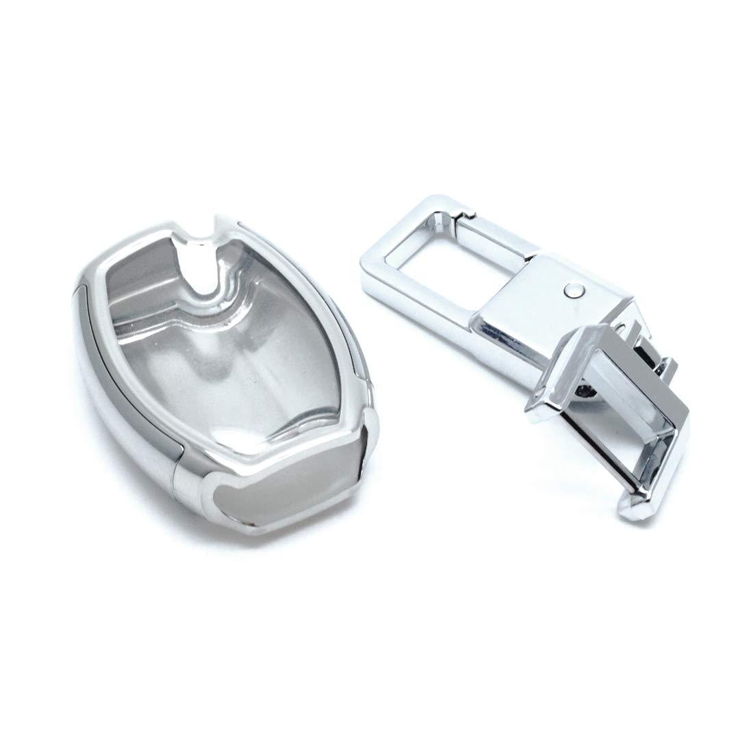 Key Fob Case for Mercedes Benz C Class E Class Premium Soft TPU Anti-dust Full Protection Silver with Key Chain AUTUT Mercedes Benz Key Fob Cover