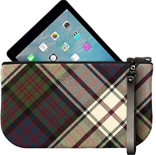 Tartan Bag to with Small iPad Clutch Enough Mini Fit Large Leather MacDonald FqnZXnUR