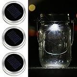 Solar Mason Jar Lid-Kohree 3 Pack LED Mason Jar Lights for Glass Mason Jars and Garden Decor, Solar jar Light