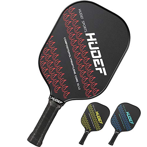 HUDEF Pickleball Paddle,Pickleball Rackets Lightweight Composite Fiber Wide Face Pickleball Paddle Racquet,Honeycomb Core Cushion Comfort Grip…