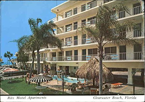 Ritz Motel Apartments, 355 Gulfview Boulevard Clearwater Beach, Florida Original Vintage Postcard ()