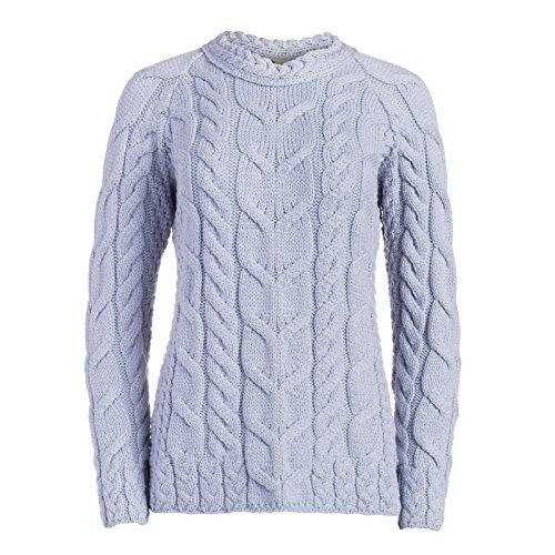 Boyne Valley The Aisling Irish Sweater (Sailing Blue, Medium)