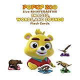 IVIEW-POPUP ZOO Interactive 3D Card Game, Free Educational APP With English/Spanish/Chinese/Korean Languages Included, Compatible for Apple/Android Tablets and Phones