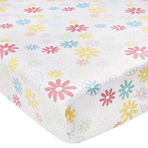 Kidsline Fanciful Floral Fitted Sheet, Flowers