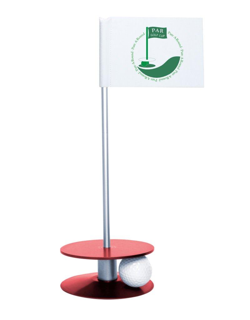 Putt-A-Round ゴルフギフト 屋内外パッティング (PARロゴ)  レッド B07BGV2QHJ
