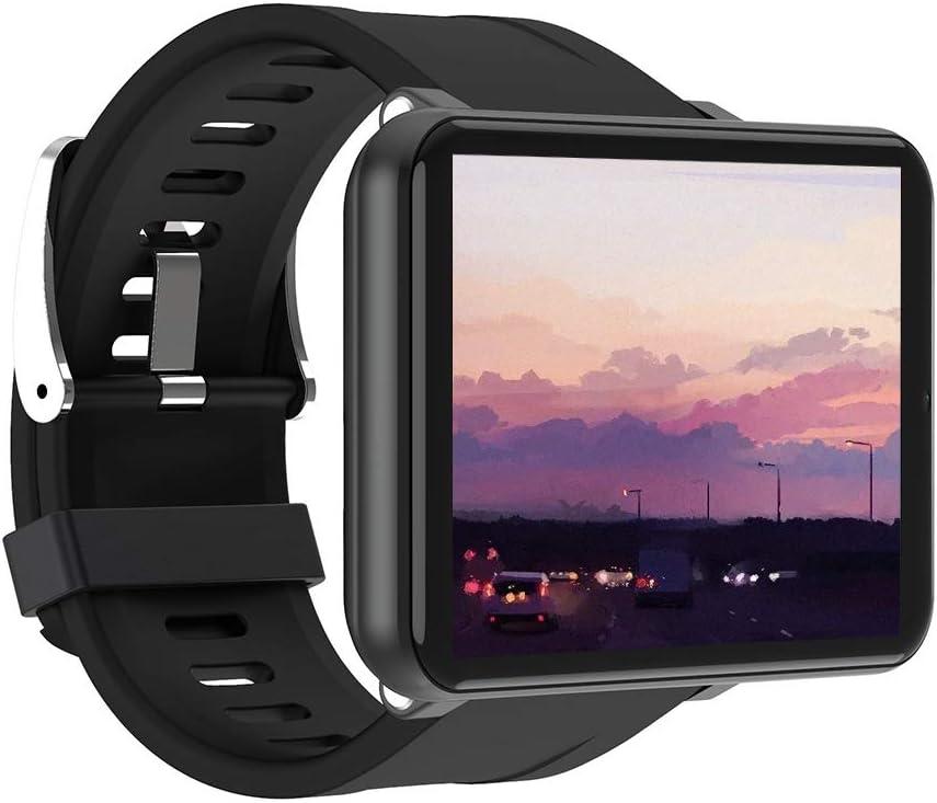 4G Reloj Inteligente Hombres Mujeres, 2700mah 2,8 Pulgadas Pantalla Táctil Completa GPS Reloj Deportivo Monitor Frecuencia Cardíaca Monitor Sueño Reloj Deportivo con Sim Ranura (3+32GB,Black)
