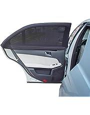TFY Parasol de Coche para las Ventanas de los Niños Protege sus Hijos de las Quemaduras Solares - Diseño de Doble Capa – Máxima Visibilidad – Apto para la Mayoría de los Vehículos Sedán, Jeep, Ford, Chevrolet, Buick, Audi, BMW, Honda, Mazda, Nissan y otros – 2 Unidades