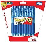 Pentel WOW! Ballpoint Pens, Medium Tip, Blue Ink, 18-Pack (BK440BP18C), Office Central