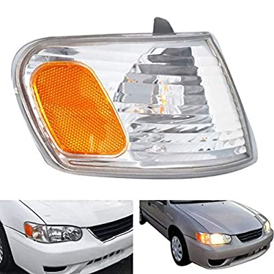Passenger Right Side Parking/Turn Signal Light Assembly Fit for 2001-2002 Toyota Corolla: Automotive