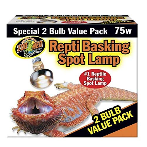 Zoo Med Repti Basking Spot Lamp 2 Bulb Value Pack 75W by Mojetto