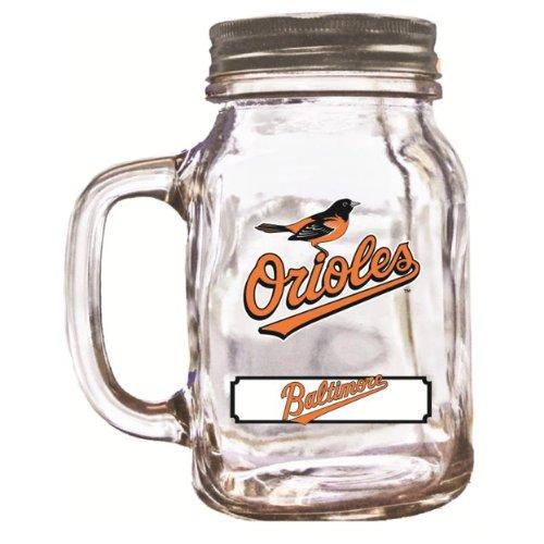 MLB Baltimore Orioles Duckhouse 20 Ounce Mason Jar